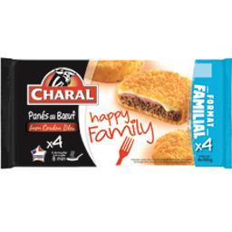 Charal Happy Family - Panés au bœuf façon cordon bleu la barquette de 4 - 400 g