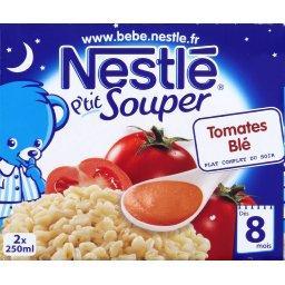 P'tit Souper - Soupe du soir tomates blé, 8+ mois