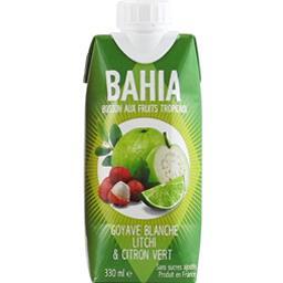 Bahia Boisson goyave blanche litchi & citron vert la brique de 330 ml