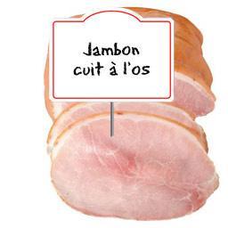 Jambon CUIT, avec os