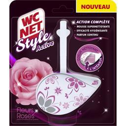 Bloc WC Style Active, fleurs roses