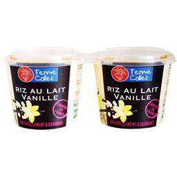 Ferme Collet Riz au lait vanille les 2 pots de 110 g