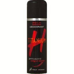 Titanium, eau de toilette déodorant pour homme, effi...