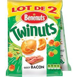 Bénénuts Twinuts - Cacahuètes enrobées goût bacon le sachets de 140 g