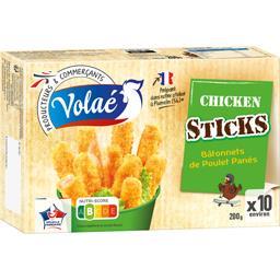 Bâtonnets de poulet panés