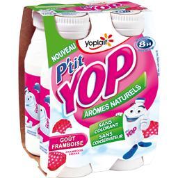 P'tit Yop - Yaourt à boire goût framboise