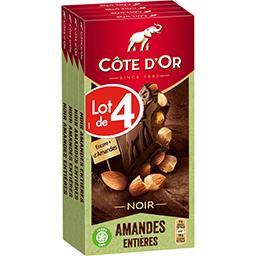 Chocolat noir Bloc amandes entières