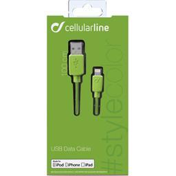 Câble de charge/synchronisation des données vert Iphone Ipad