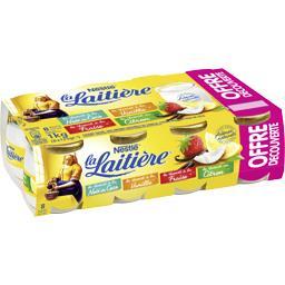 Nestlé La Laitière Yaourts noix de coco, vanille, fraise et citron