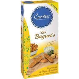 Gavottes Les Baguet's - Biscuits apéritif emmental & thym rom... la boite de 125 g