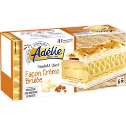 Feuilleté glacé façon crème brulée