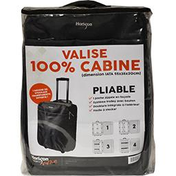 Valise Trolley pliable 100% cabine