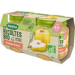 Les Récoltes BIO - Pommes poires BIO, dès 4/6 mois