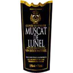 Vin doux naturel Muscat de Lunel cuvée réservée