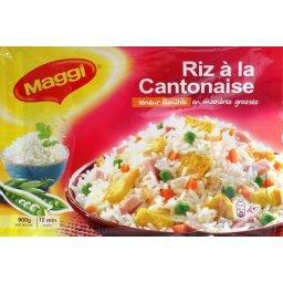 Riz à la cantonaise, riz thaï et omelette façon maison, plat familial, le paquet,900g