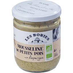 Les Bories Mousseline de petits pois aux asperges BIO le bocal de 380 g