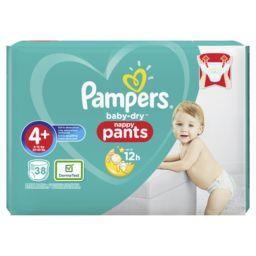 Pampers Couches baby-dry pants t4+ x38