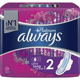 Always Serviette hygiéniques Ultra long T2 le paquet de 12