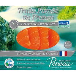 Truite fumée de France, au sel de l'île de Ré