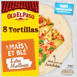 Tortillas au maïs nature