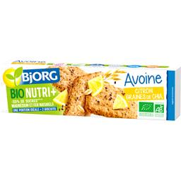 Biscuits avoine citron graines de chia BIO