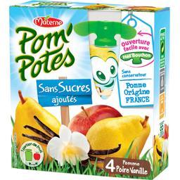 Pom'Potes - Compotes pomme poire vanille sans sucres...