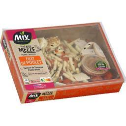 Salade Mezze - Penne crudité poulet/tartare tomates/...