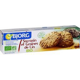 Sarrasin et graines de lin, bio ,BJORG,Le paquet de 125 Gr