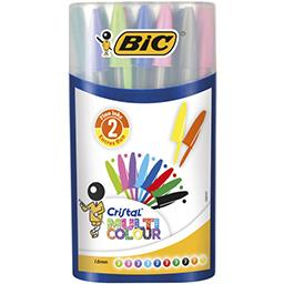 Bic Cristal - Mega turbo multi Colour Fluo le lot de 20 stylos