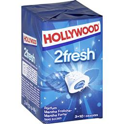 Hollywood 2Fresh - Chewing-gum menthe fraîche/menthe forte san...