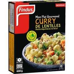 Mon Plat Gourmand - Curry de lentilles petits légume...