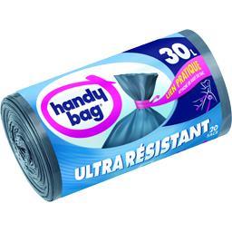 Sacs poubelle Ultra-résistant lien pratique 30 l