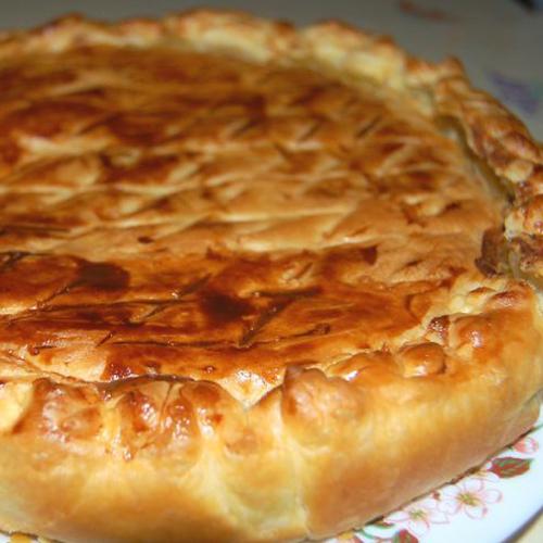 Tourte fine jambon et fromage fondu