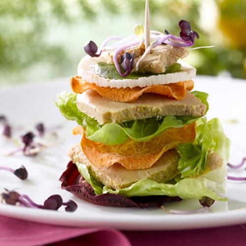 Le Club sandwich au Foie Gras et fraîcheur potagère
