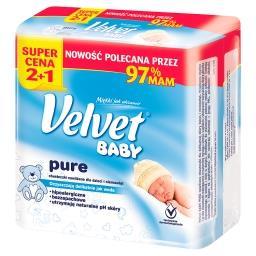 Baby Pure Chusteczki nawilżane dla dzieci i niemowląt 3 x 64 sztuki