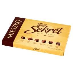 Twój Sekret Praliny w czekoladzie mlecznej i deserowej z nadzieniami