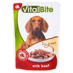 Karma dla psów z wołowiną w sosie