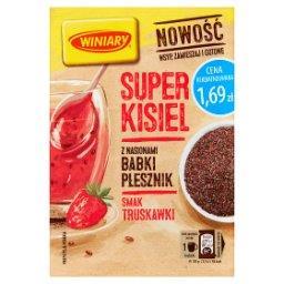 Super kisiel smak truskawkowy z nasionami babki płesznik i babki jajowatej