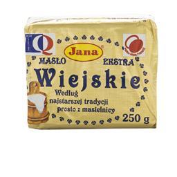 Masło wiejskie extra 82% tłuszczu 250 g