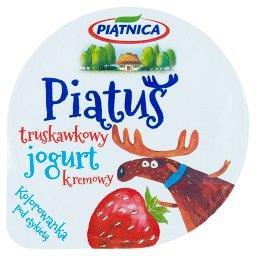 Piątuś Jogurt kremowy truskawkowy