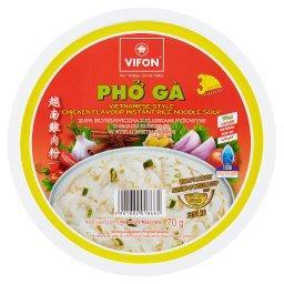 Pho Ga Zupa błyskawiczna z kluskami ryżowymi o smaku kurczaka w stylu wietnamskim