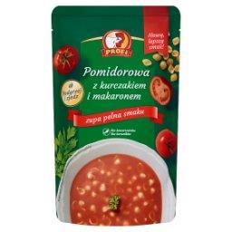 Pomidorowa z kurczakiem i makaronem
