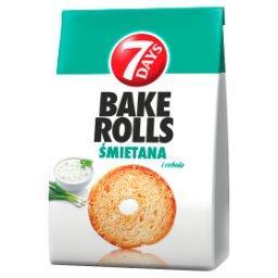 Bake Rolls Chrupki chlebowe o smaku śmietanowo-cebulowym
