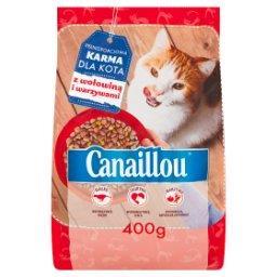 Pełnoporcjowa karma dla kota z wołowiną i warzywami