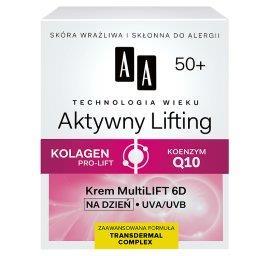 Technologia Wieku 50+ Aktywny Lifting Krem Multilift 6D na dzień