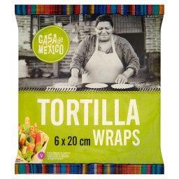 Placek pszenny tortilla 20 cm  (6 sztuk)