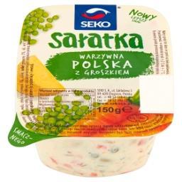Sałatka warzywna polska z groszkiem