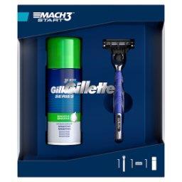 Zestaw podarunkowy zmaszynką do golenia Mach3 Start + Sensitive pianka do golenia