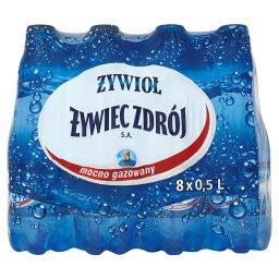 Od Żywiec Zdrój SA Woda źródlana mocno gazowana 8 x 0,5 l