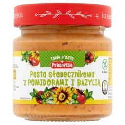 Pasta słonecznikowa z pomidorami i bazylią